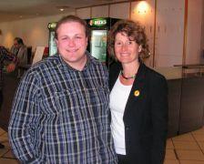 Joscha und Eveline Lemke (unsere Wirtschaftsministerin)